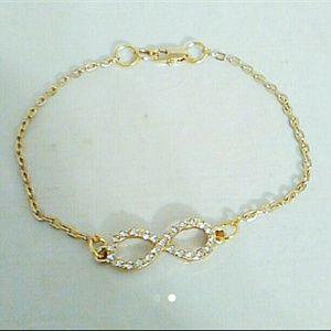 """Jewelry - 9.5"""" Crystal Infinity Ankle Bracelet"""